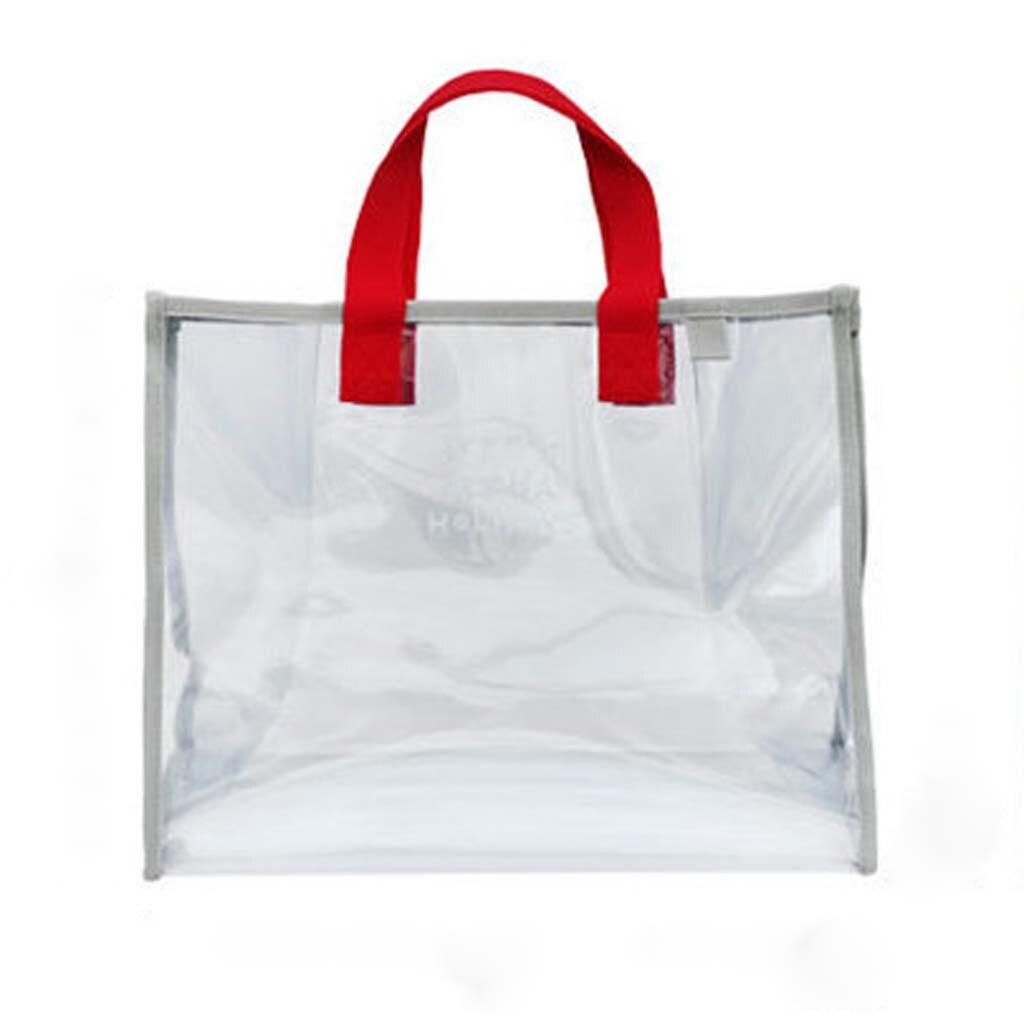 Bolsas de almacenamiento de PVC transparente para las bolsas de jalea de hombro transparente Bolsos de monedero Bolsas de viaje para el estadio de trabajo y compras Bolsas de asas transparentes