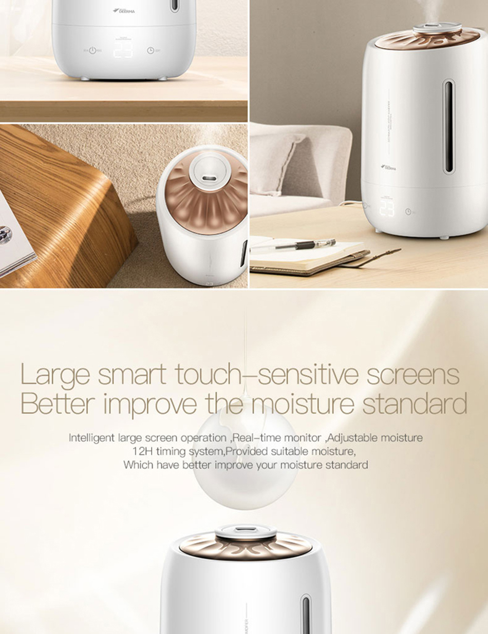 Xiaomi Mijia deerma 5L Air Home Ultrasonic Humidifier Touch Version Air Purifying for Air-conditioned rooms Office household D5 (7)