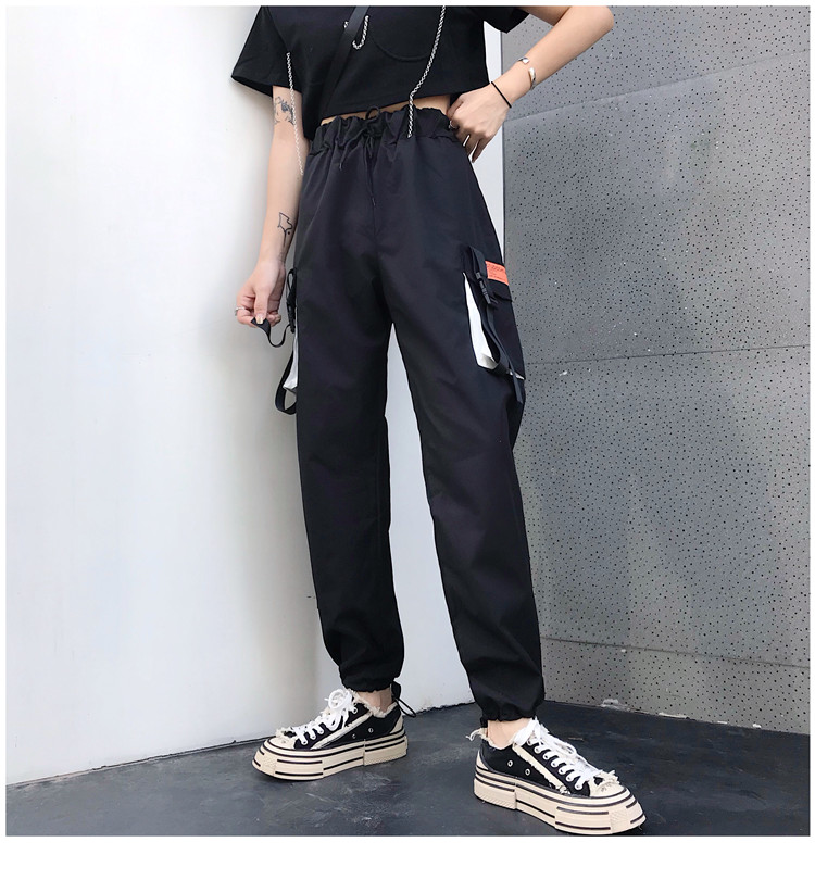 Hot Big Pockets Cargo pants women High Waist Loose Streetwear pants Baggy Tactical Trouser hip hop high quality joggers pants 26