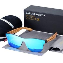Мужские и женские солнцезащитные очки BARCUR, винтажные деревянные солнцезащитные очки с защитой UV400