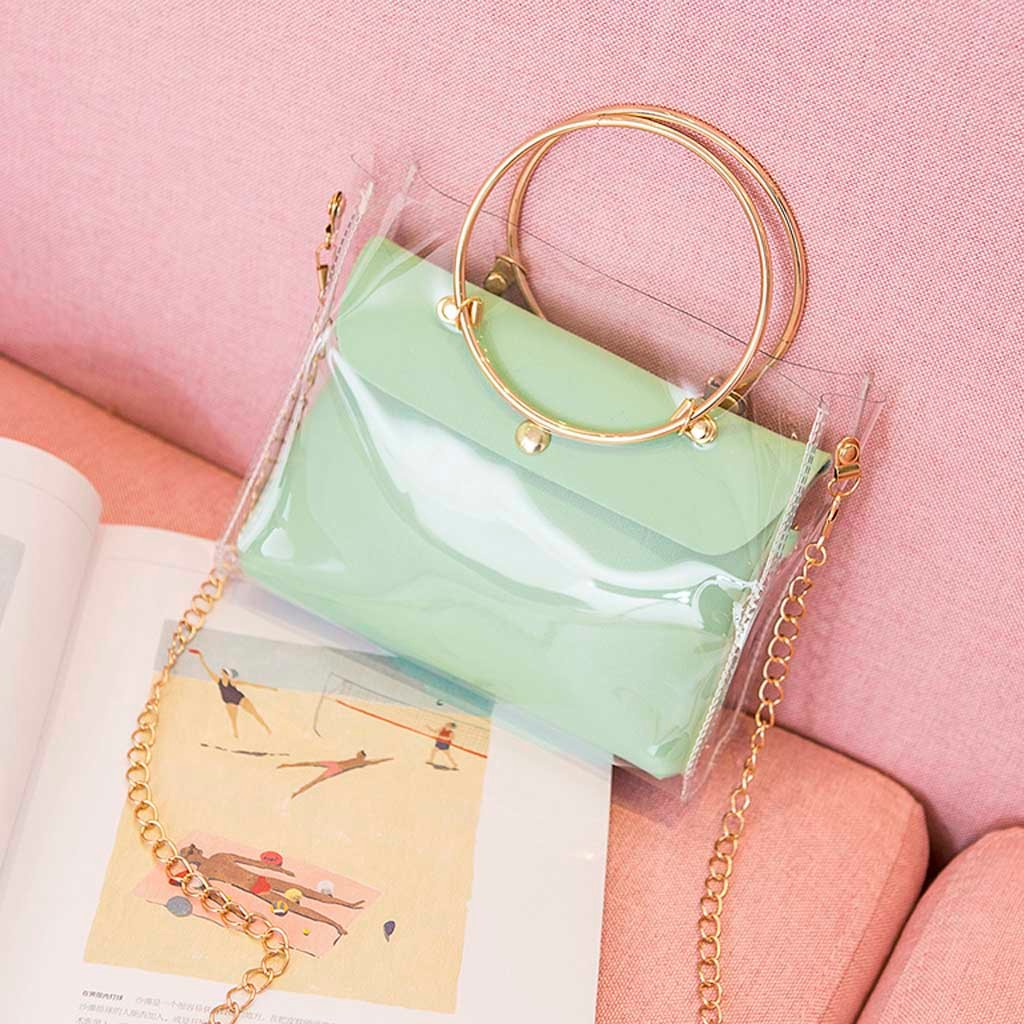 Aelicy 2019 Design Luxury Handbag Women Bucket Bag Clear Jelly Small Shoulder Female Chain Crossbody Messenger Bags 1111