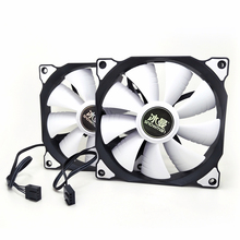 SNOWMAN PWM 4 Pin 120mm Computer Case Fan Silent 12CM Fan CPU Cooling RGB Quiet PC Cooler Fan Case Fans 12V DC Adjust Fan Speed
