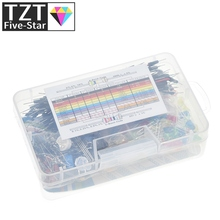 Starter-Kit TZT for Led/capacitor/jumper-wires/Breadboard-resistor-kit with Retail-Box