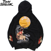 Hoodie Sweatshirt Embroidered Pullover Harajuku Streetwear Hip-Hop Autumn Rabbit Full