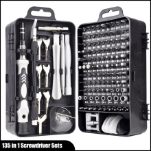 135 in 1 Multi Mini Hand Repair Tools Precision Screwdriver and Wrenchs With Carry Case For Apple Phone Watch Laptops
