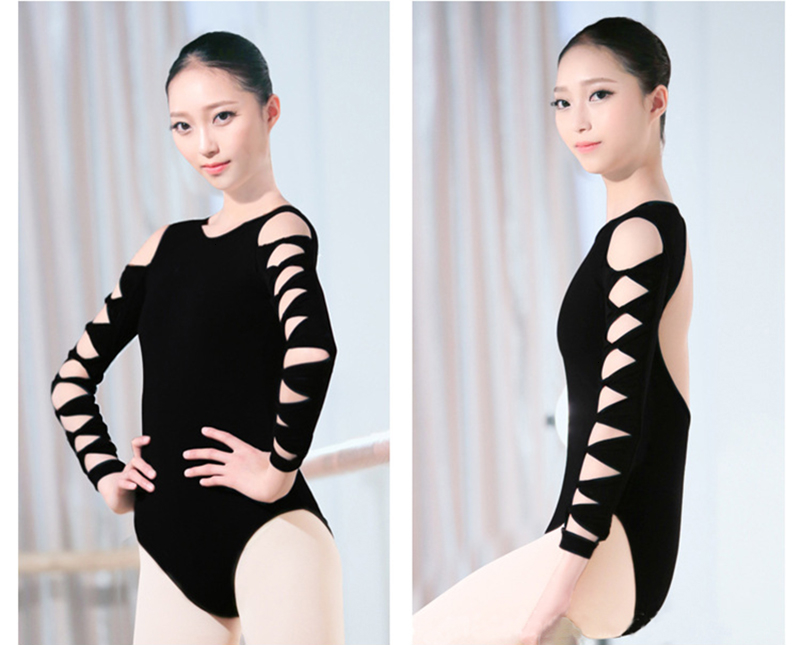 One-Piece Suits Ballet Leotar Summer Belly Dance Dress Hollow Women Costume Latin Tights Girl Backless Halter (9)