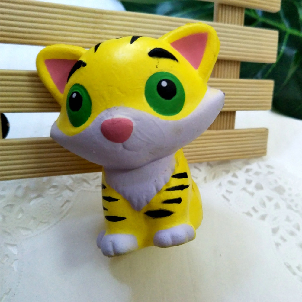 Adorable Tiger Slow Rising Cream Scented Stress Relief Toys Squishy squishy Stress Reliever Decor Toys Antistress Toys #A