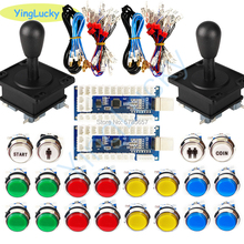 Arcade-Kit Joystick Coin-Button 2-Player Game-Parts Usb-Encoder New 33mm LED with 1