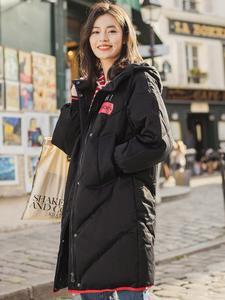 INMAN/зимнее длинное теплое пальто с капюшоном и принтом для женщин и девочек