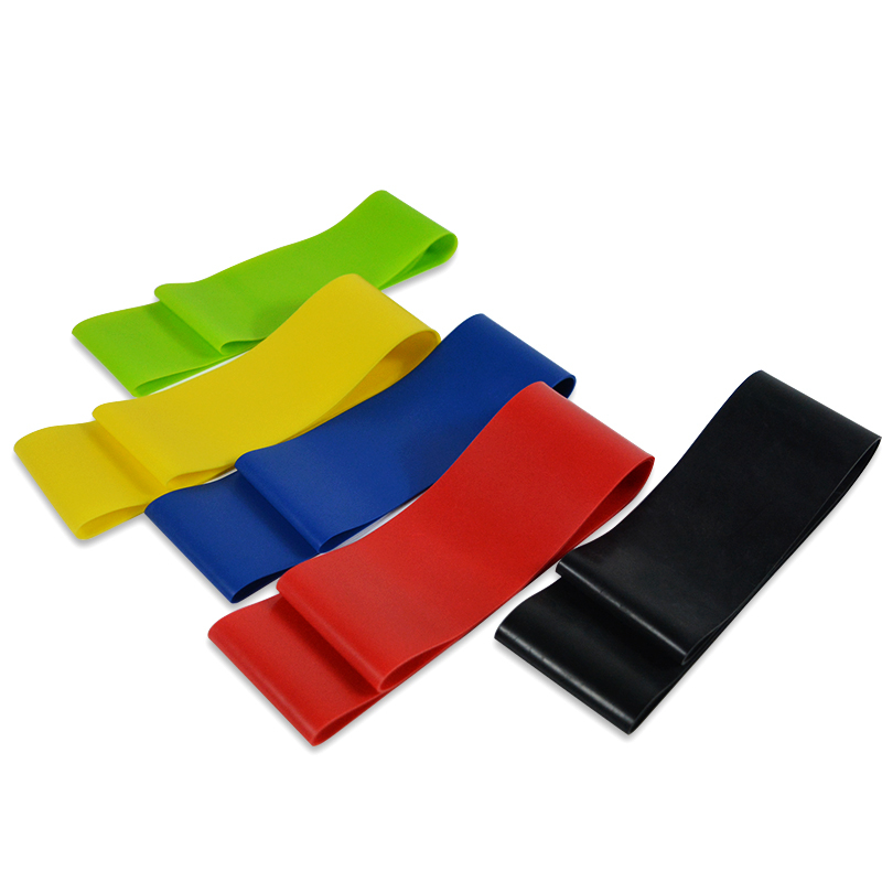XC-6-Levels-Resistance-Bands-Rubber-Bands-3-50LBS-Latex-Yoga-Gym-Train-Athletic-Exercise-Loop