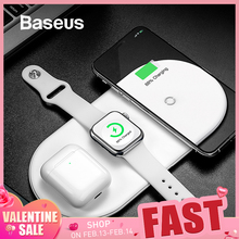 Baseus Wireless-Charger Charging-Pad Apple Watch Fast iPhone X for XS Max-Xr 8/Fast/Wireless/..