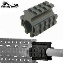Low Profile 19mm .223 rem 5.56mm Ring Gas Block Quad Rail Mount for Hunting Airsoft 0.75
