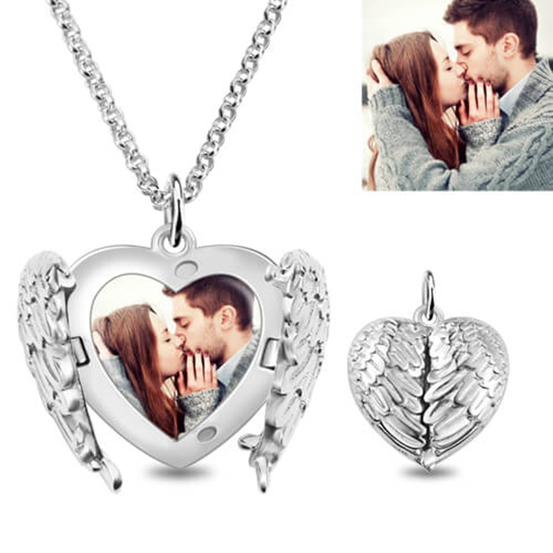 Fashion Girl Gift Heart Box Sterling 925 Silver Charm Pendant Necklace CH66