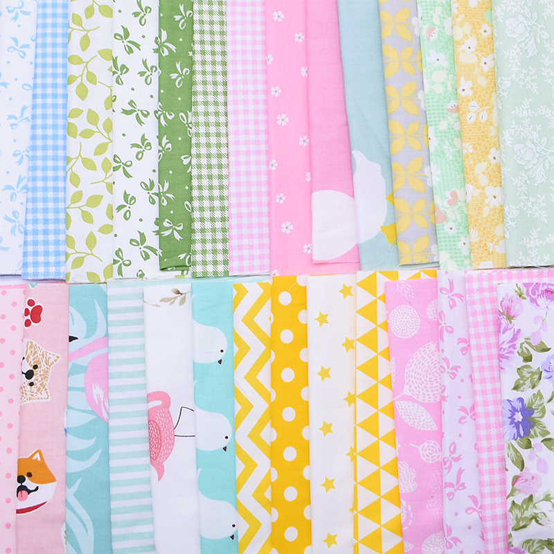 50pcs Quilting Stoff Baumwolle Mischung Textilhandwerk Stoff Patchwork f/ür DIY N/ähen zuf/älligen Muster 25x25cm
