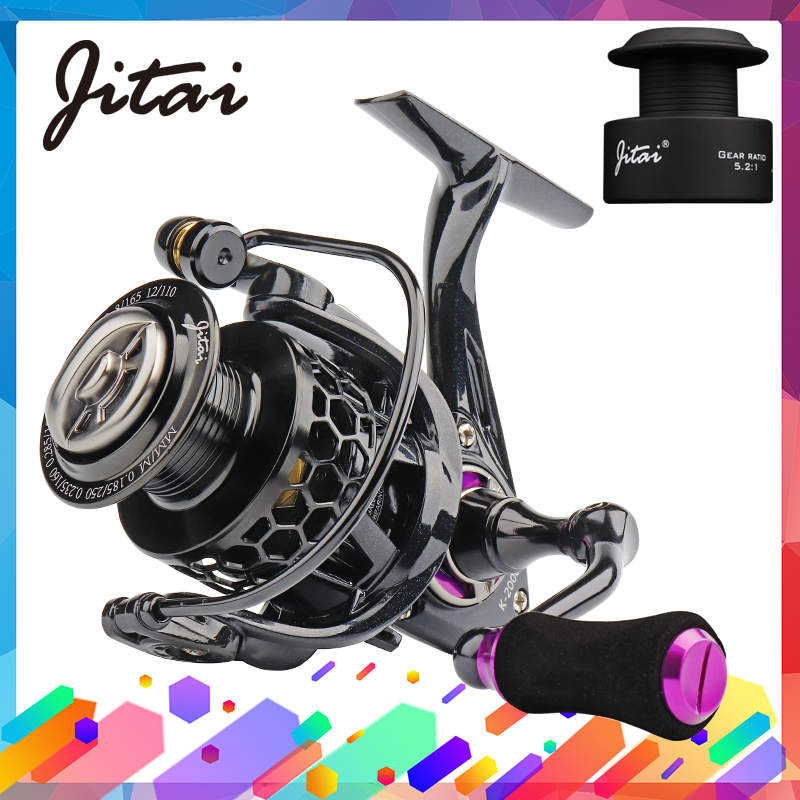 JITAI Spinning-Reel Saltwater-Wheel Aluminum Spool Lightweight Carp with CNC Carretilha title=