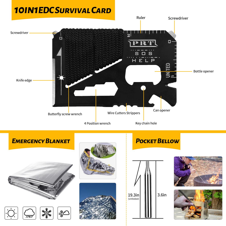 Kit complet de survie et de randonnée 59 pièces