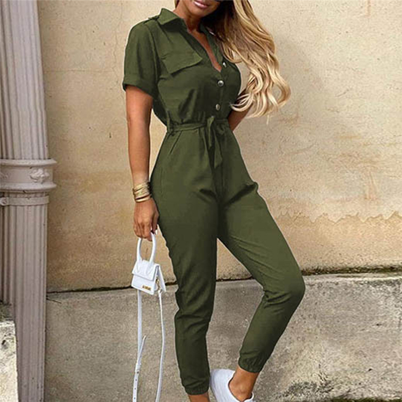 Streetwear White Sexy Bodycon Jumpsuit Women Overalls Rompers 2020 Short Sleeve Skinny Summer Womens Jumpsuit