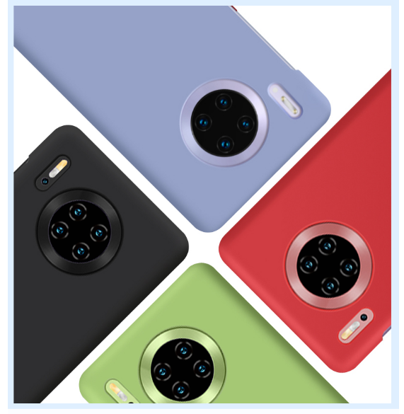 Candy color for Huawei P30lite P30 30Pro note 9 10 Mate 10 20 original ultra-thin soft shell original liquid silicone sleeve