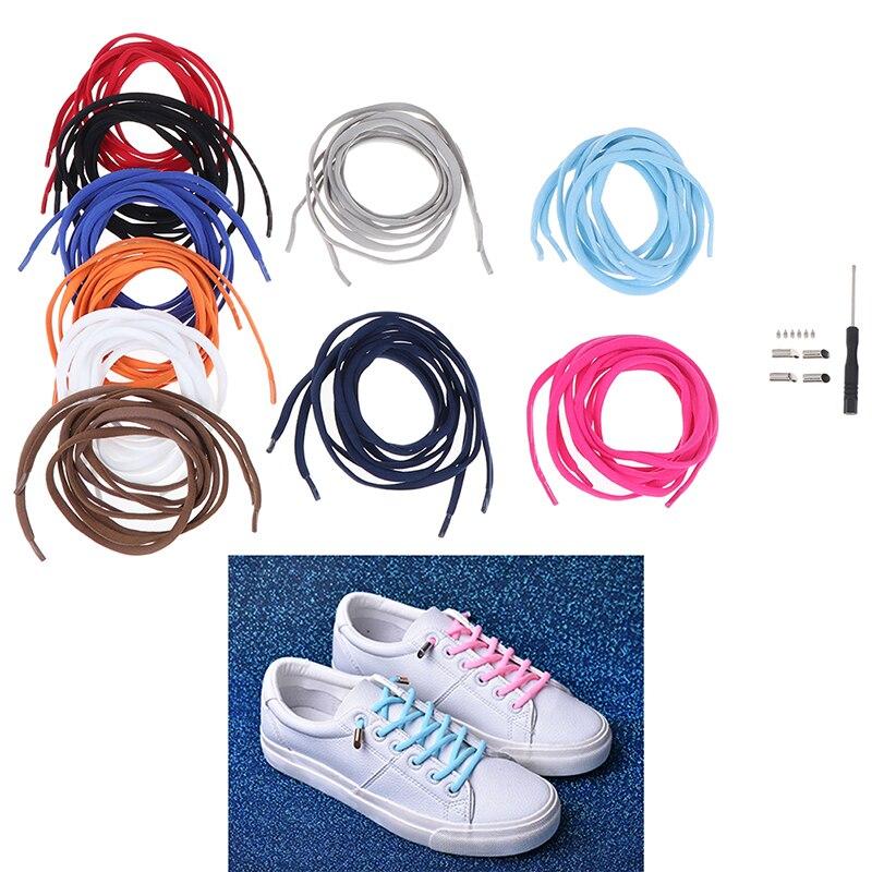 1Pair Semicircle Shoelaces Solid Color Elastic Lace No Tie Shoe Laces Kids Adult Quick Lazy Sneakers Shoelace