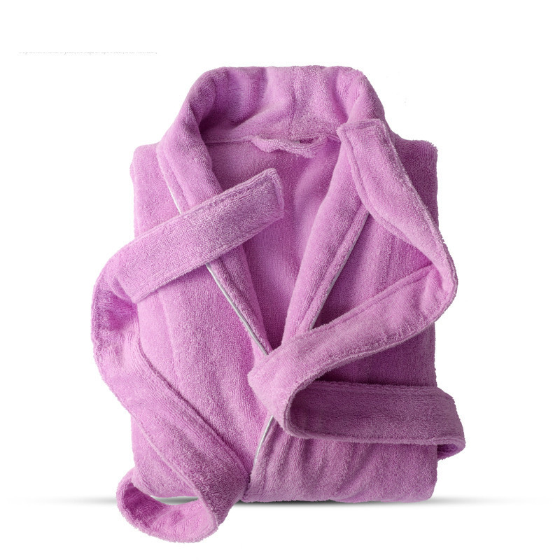 100% Cotton Toweling Terry Robe Lovers Soft Bath Robe Men And Women Nightrobe Sleepwear Male Casual Home Bathrobe Hotel Robe