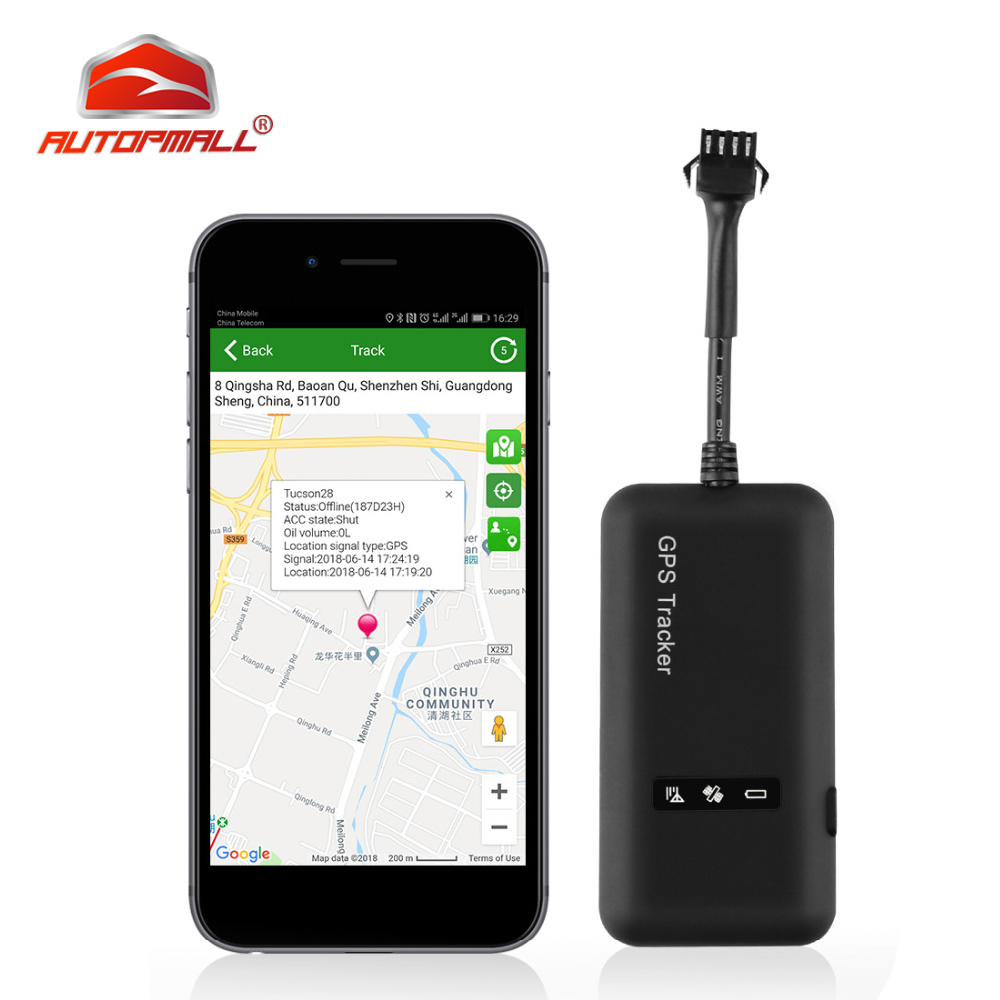 GPS Locator Gps-Tracker TK110 GT02A Google Maps Realtime GSM for Car 12-36V Cut-Off-Fuel title=