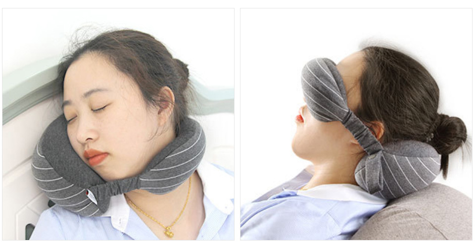 Multifunction Business Travel Neck Pillow Foam U Shaped Travel Pillow Neck Support For Airplane Cushion Cervical Pillow&Eye Mask (11)
