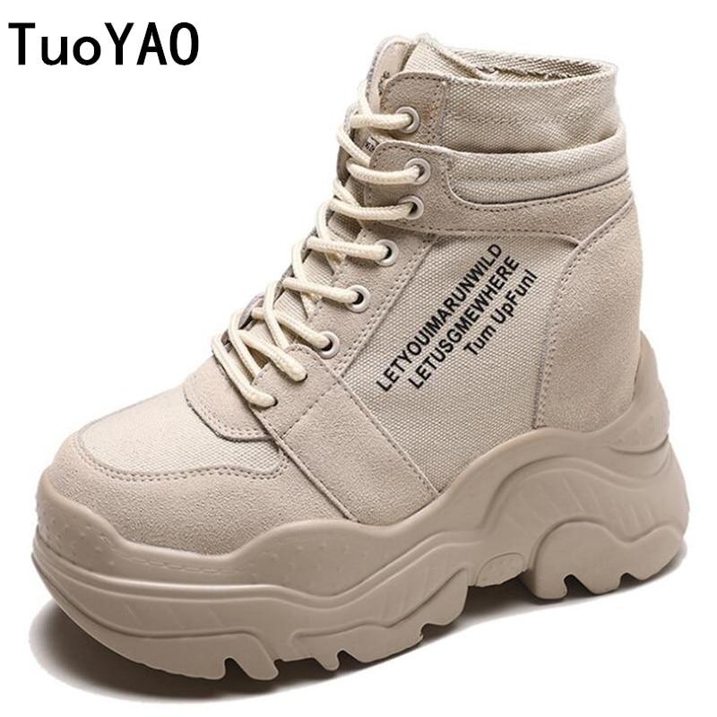 Новые зимние ботинки женские кеды на высокой платформе 9 см увеличивающие рост