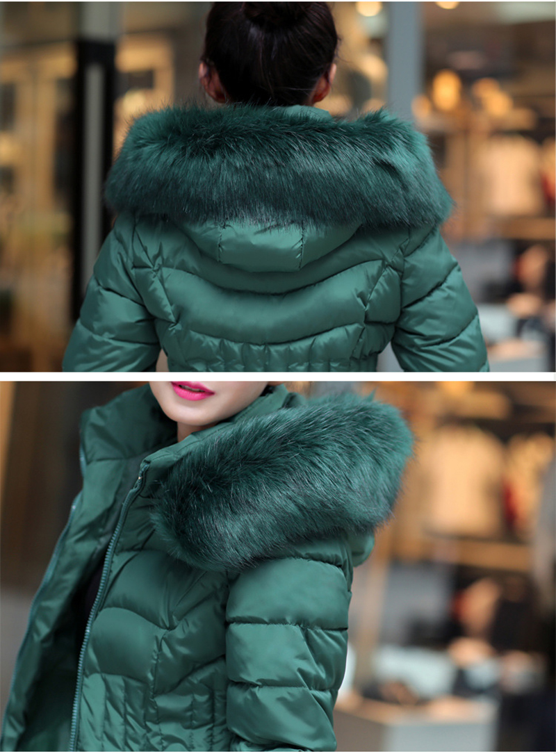 Winter Long Women Coats Parkas Slim Pleated Black Female Coat Outwear Fashion Disassembled Hooded Cotton Women Jackets MLD1271 23