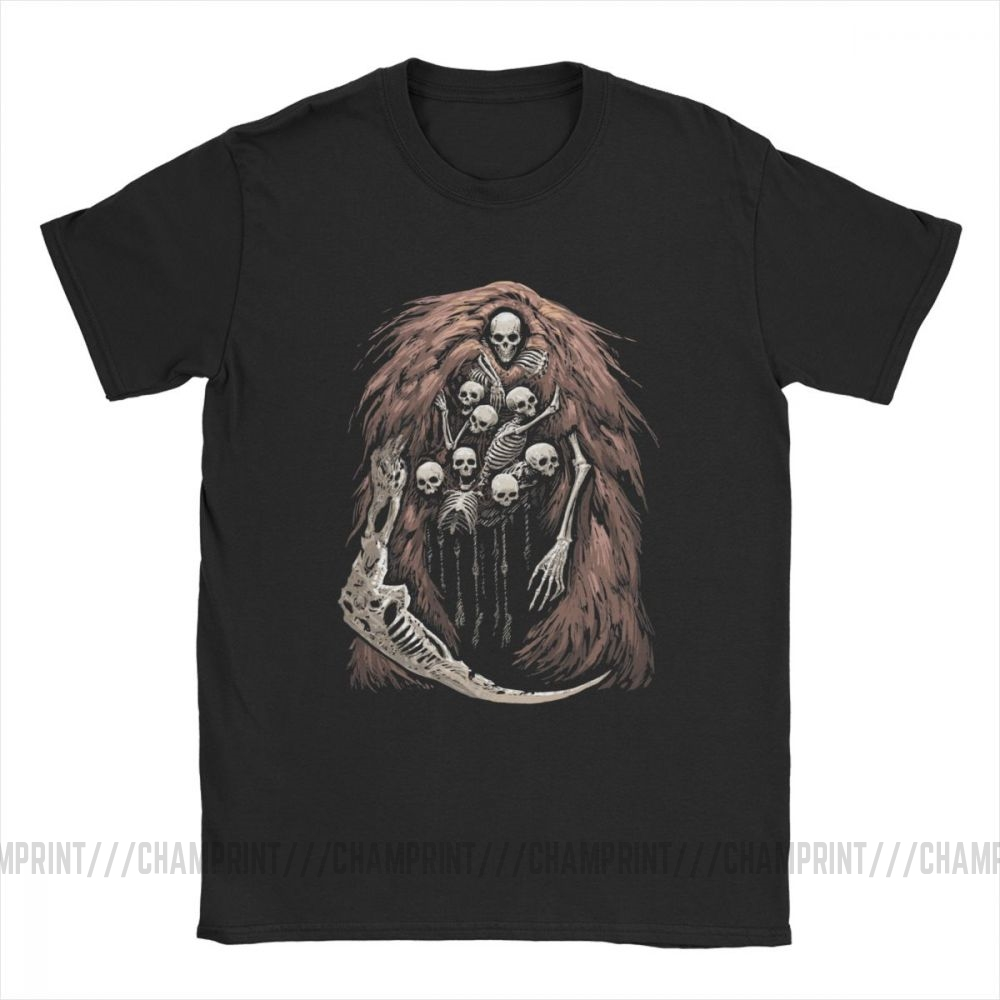 The Gravelord T-Shirts for Men Dark Souls Skeletons Skulls Scary Horror Funny Pure Cotton Tees T Shirts Printed Clothes