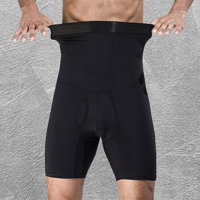 Shaper For Gentlemen High Waist Compression Pants Slimming Quick Dry Body Shaping Short Pants TT@88