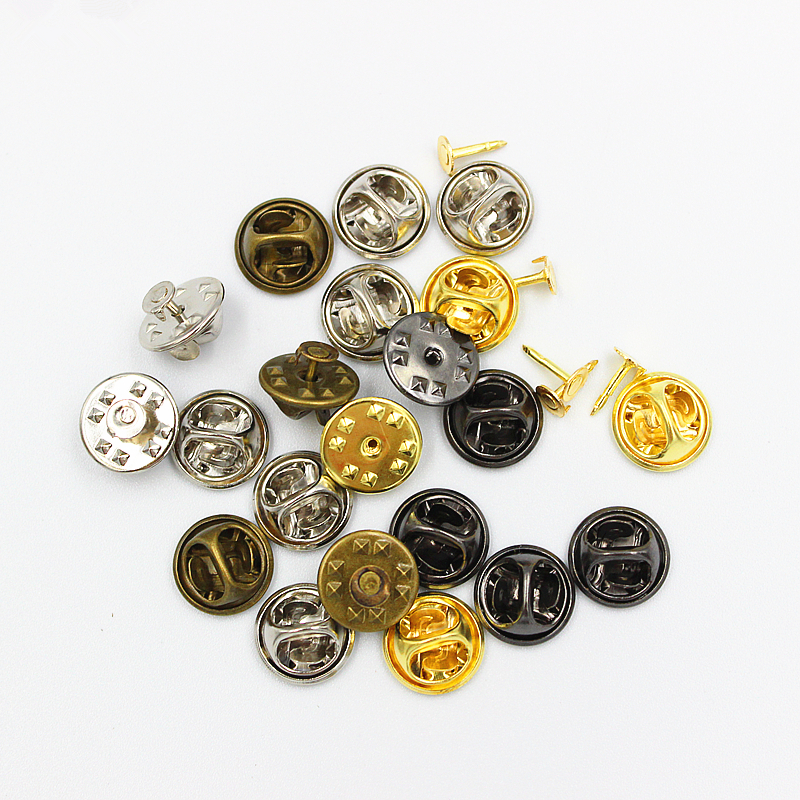 PACK OF 100 100 X RUBBER HAT PIN TIE TAC BADGE BACKS CLUTCH CLUTCHES YELLOW