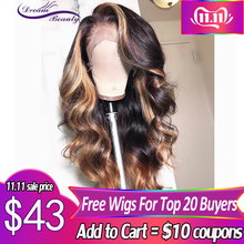 Human-Hair-Wigs Hairline-Dream Deep-Part Density Wavy Lace-Front Beauty Remy Pre-Plucked