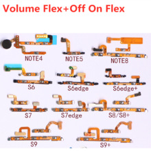 Flex-Cable Power-Switch-Button Note-4 Samsung Galaxy Off-On-Connector for Note-4/5/S6/..
