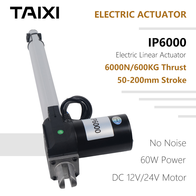 200mm//8 in Electric Linear Actuator 6000N Max Lift Heavy Duty 12V Electric Motor