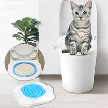 Litter-Box Seat-Supplies Toilet-Trainer Pets Cleaning-Toilet Cat Training Plastic Mat