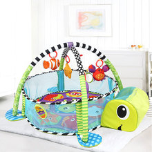 Animal Baby Game Mat Toddler Crawling Blanket Baby Educational Activity Center Gym Floor Mat Foldable Play Mat