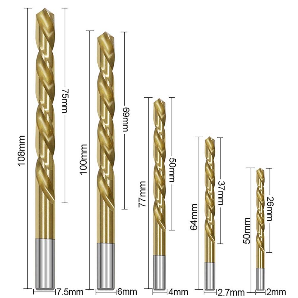 2mm 1 Pc Extra Long 87mm HSS Twist Drill Straigth Shank Auger Drilling Bit 1 Pc