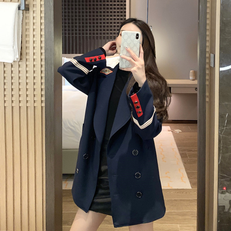 2020 Spring Autumn Coats new retro Hong Kong flavor chic casual small Suit Jacket women/'s Loose long-sleeved Blazers  M132