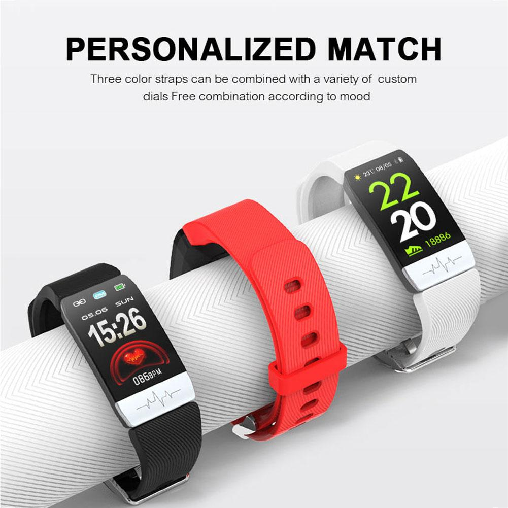 Canvas - New Q1S Fitness Tracker ECG PPG Waterproof Heart Rate Monitor Smart Band Weather Forecast Smart Bracelet For IOS Android