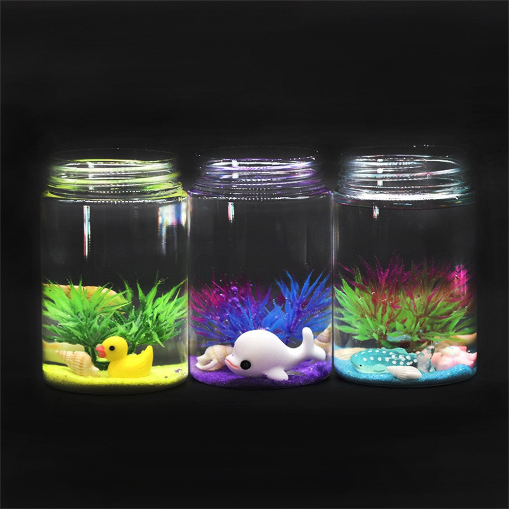 Underwater World Slime Dolphin Seaweed Accessories Child Decompression Toys Creative children funny gadgets #B