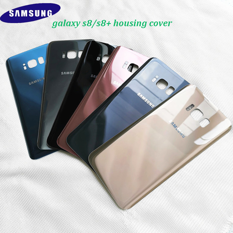 Samsung Adhesive Case Sticker Housing-Cover Replacement Glass S8 S8-Plus Original 3D title=
