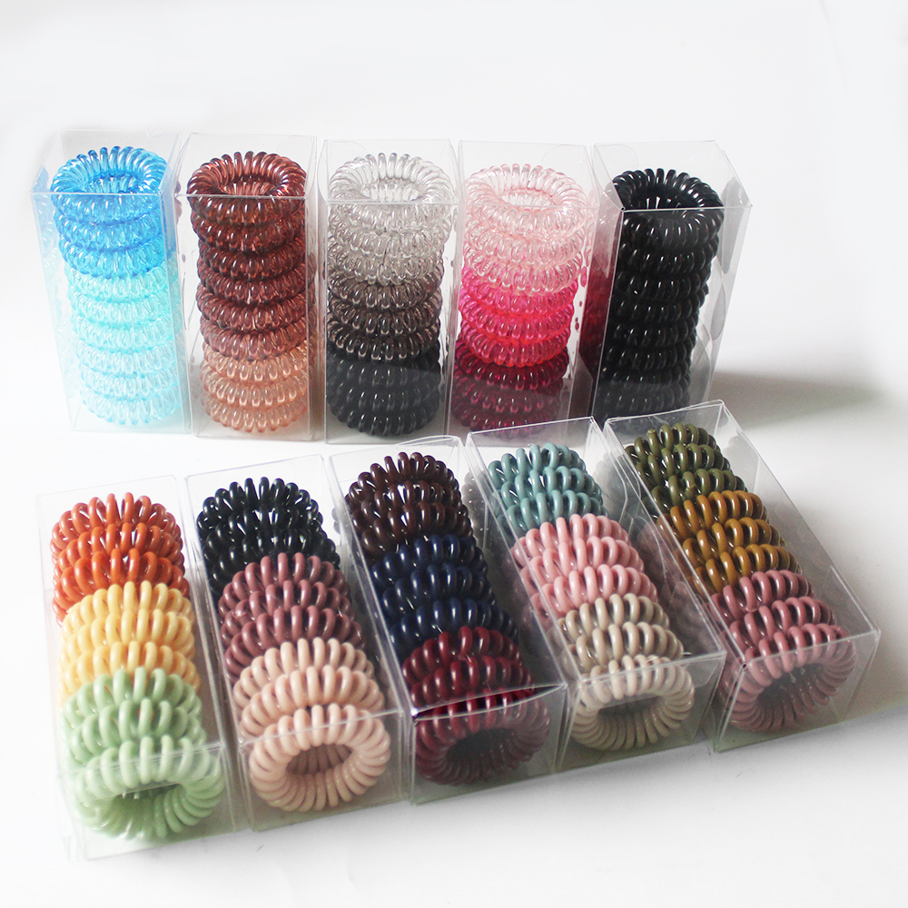 9 Pcs Elastic Hair Bands for Women Hair Accessories Girl's Cord Spiral Hair Ties Ponytail Holders Cute Hair Band 2020