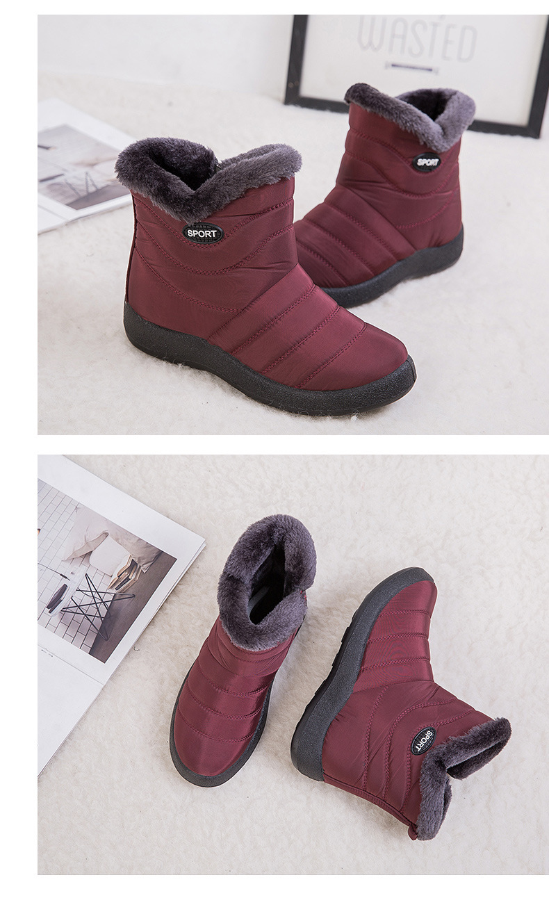 women boots ankle snow boots waterproof winter shoes