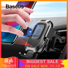 Baseus Car-Phone-Holder Stand Air-Vent-Mount Intelligent iPhone Wireless-Charger Infrared