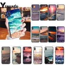 Чехол Yinuoda sea wave для iPhone 8 7 6 6S Plus X XS MAX 5 5S SE XR 11 11pro promax(China)
