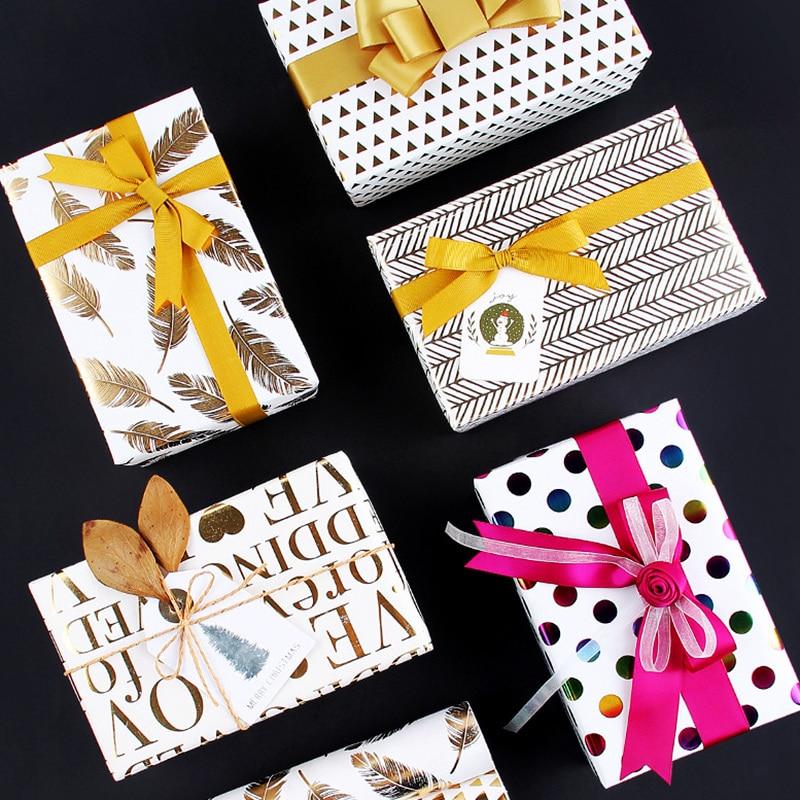 carta piegata Natale riciclabile Confezione da 12 fogli di carta da regalo per regali di artigianato compleanno 50 x 70 cm per ufficio