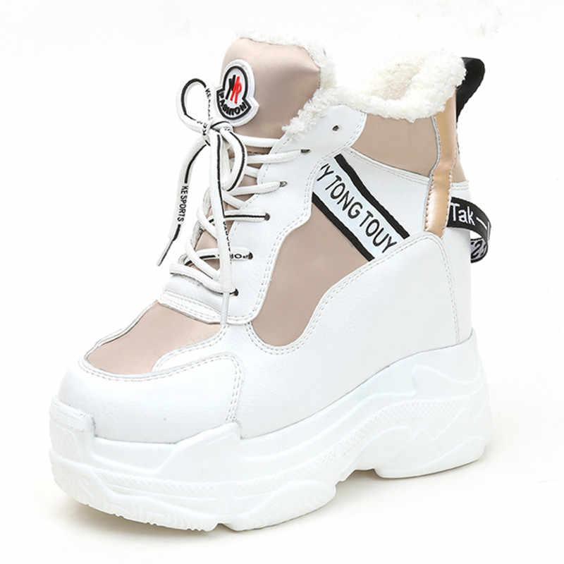 зимние кроссовки на платформе купить