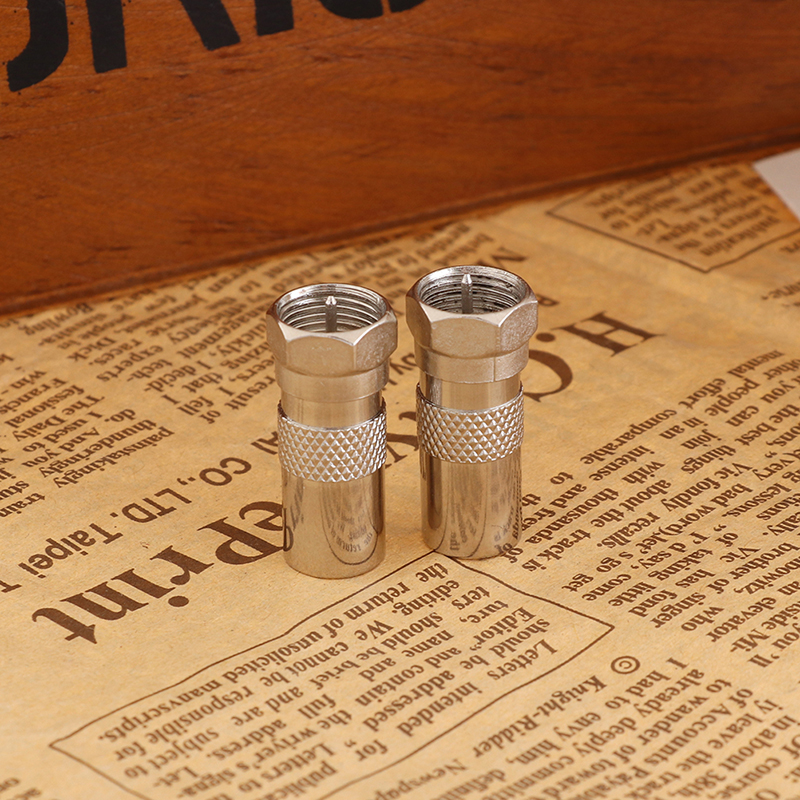 2Pcs F Type Male Plug Connector Socket To RF Coax TV Aerial Male Adapter