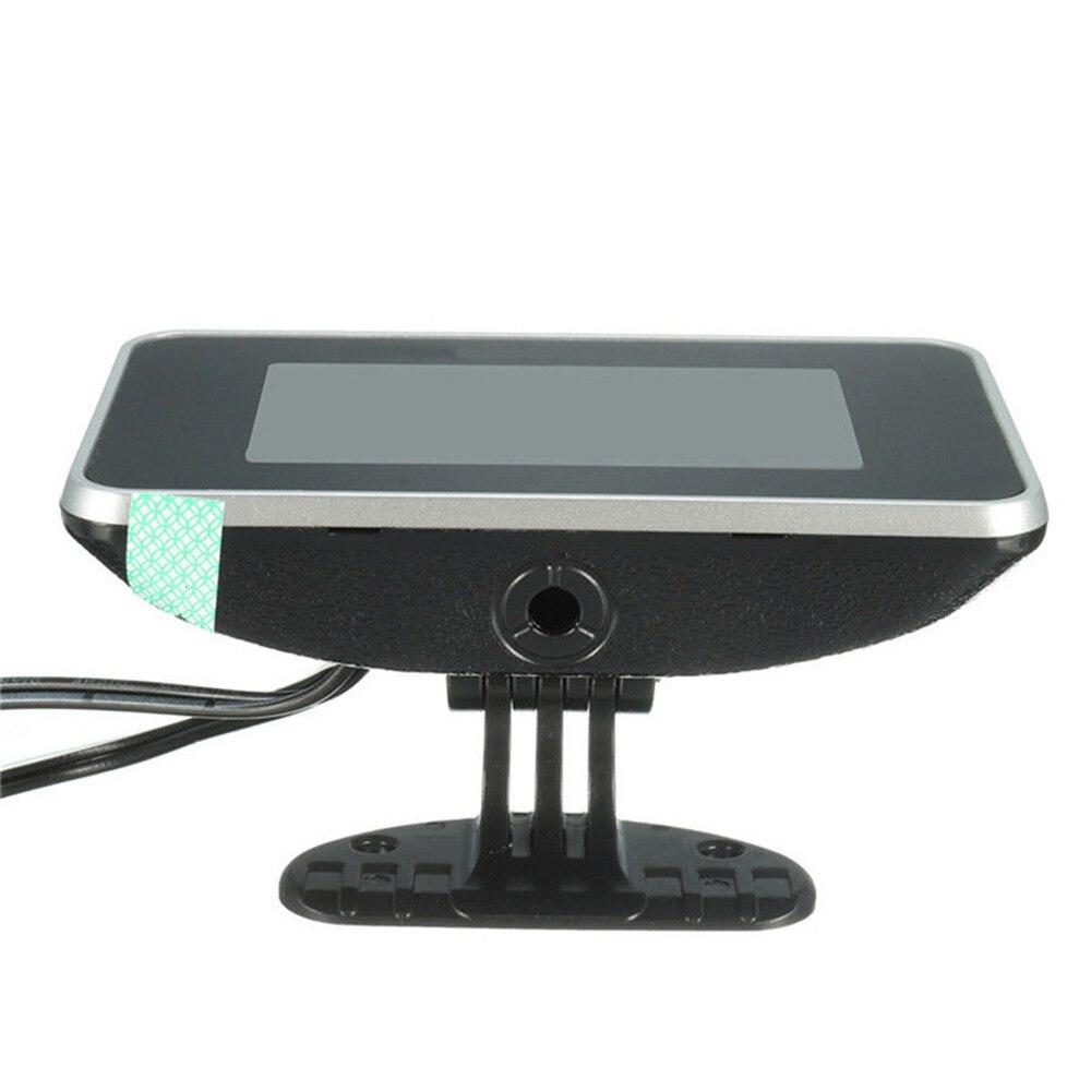 24V 4 nel 1 LCD Car Digital Alarm Indicatore Pressione Voltmetro Volt Temperatura Acqua Pressione Olio Indicatore Livello Carburante Sensore Temperatura JVSISM 12V