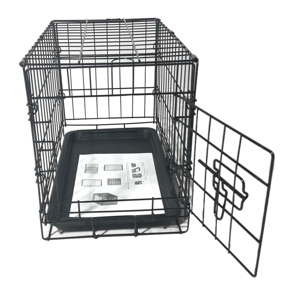 Den - 20inch Black Steel Dog Crate Pet Kennel Wire Metal Cage